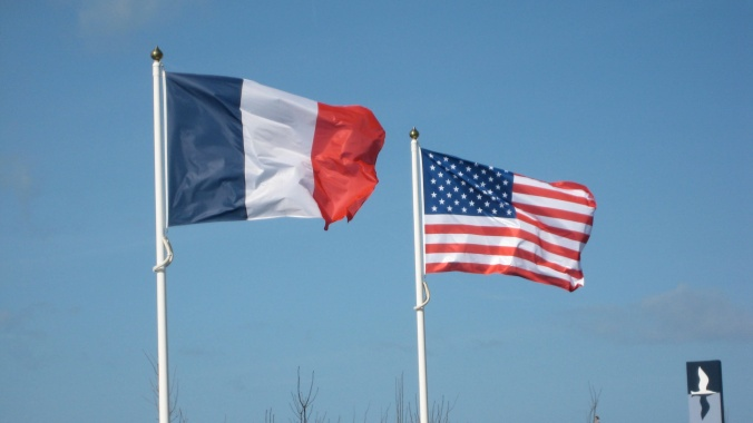 french-and-american-flags