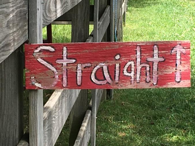 straight sign