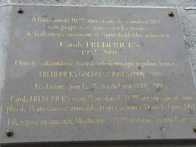 carole plaque