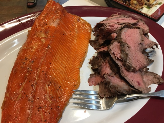 salmon and beef